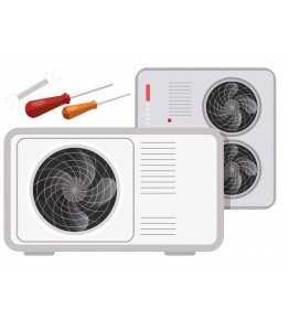 Montage Luft-Vand varmepumpe
